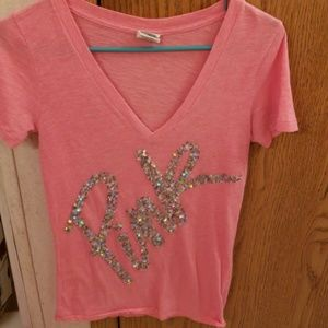 Vs pink bling t-shirt